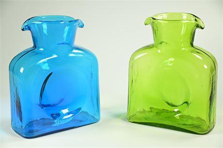 Pair Blenko Glass Vases
