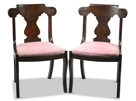 Pair Empire Side Chairs