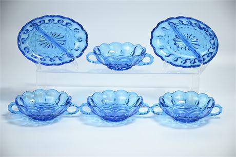 Vintage Capri Aqua Blue Dishes