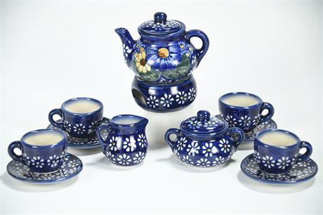 Polish Pottery Child's Tea Set
