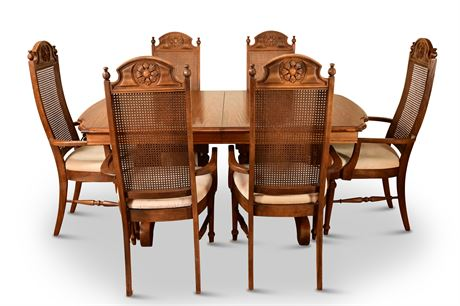 Vintage Lenoir Dining Table and Chairs