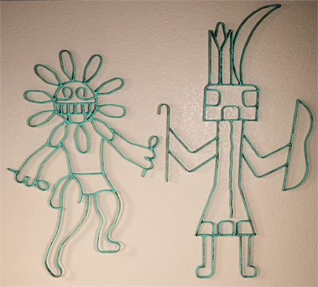 Wrought Iron Kachina