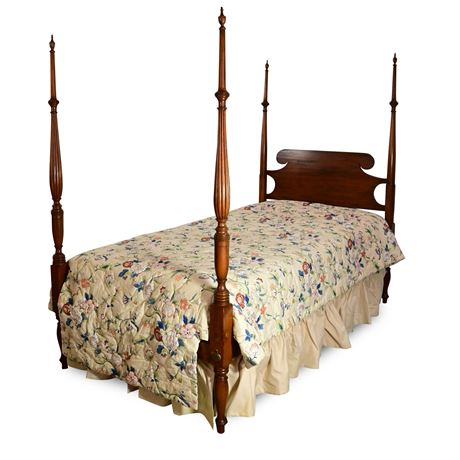 Antique Twin Four Poster Bed