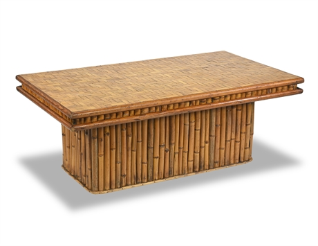 Mid-Century Bamboo Cocktail Table