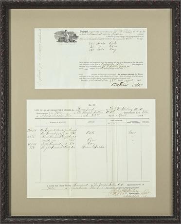 Civil War Era Quartermaster's Documents