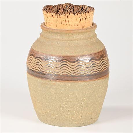 Artisan Crafted Stoneware Jar