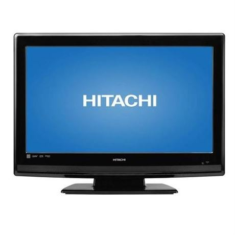 "Hitachi 26"" LCD TV w/built-in DVD player"