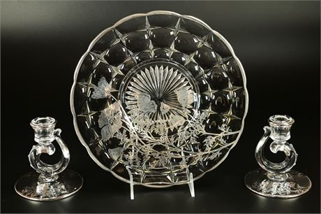 Silver Overlay Serving Accessories