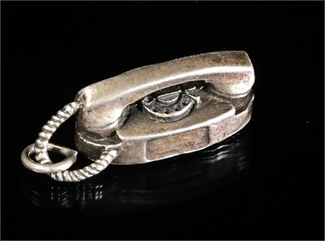 Sterling Silver Telephone Charm