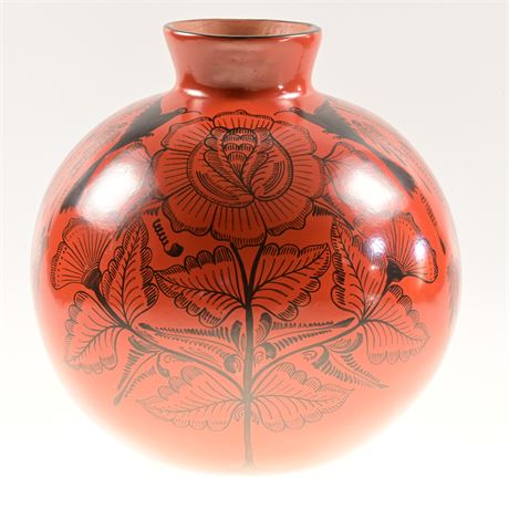 Hand Painted Pottery Vessel