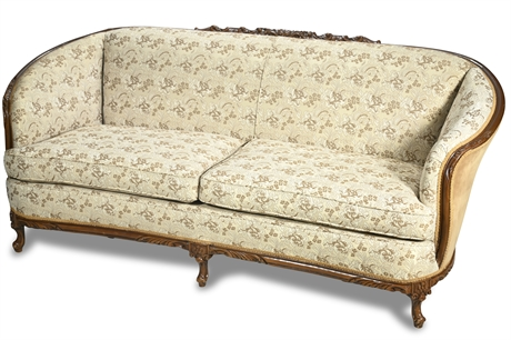 Vintage French Provincial Parlor Sofa