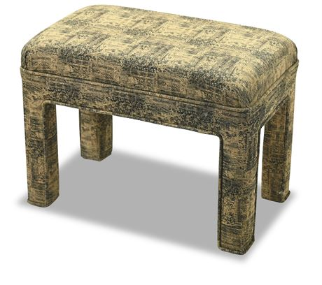 Contemporary Upholstered Stool