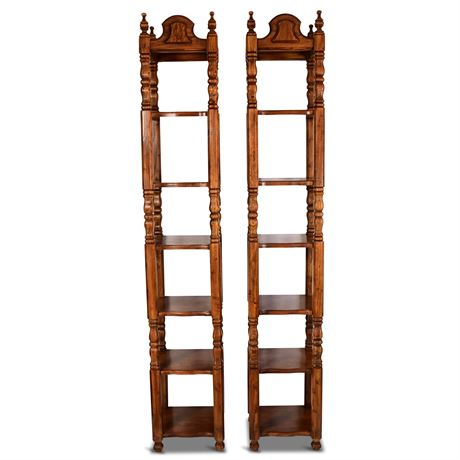 Mid-Century Thomasville Six Tier Tower Shelves