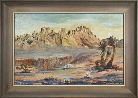 Original Organ Mountain Landscape by F. Tillman