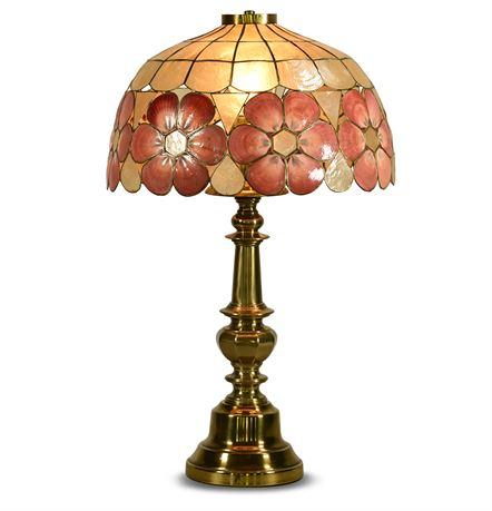 Vintage Capiz Shell Table Lamp