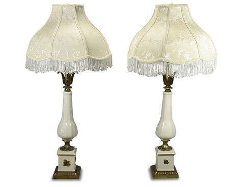 Pair Hollywood Regency Lamps