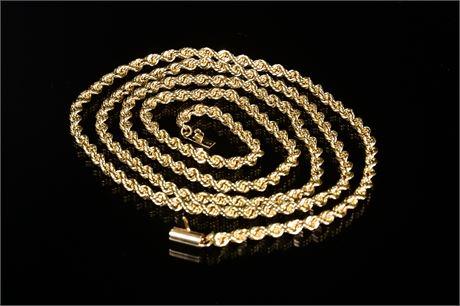 """14k Rope Chain (34"""")"""