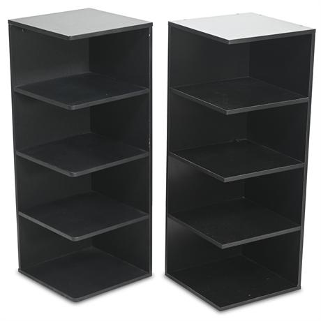 Pair MDF/Composite Corner Shelves