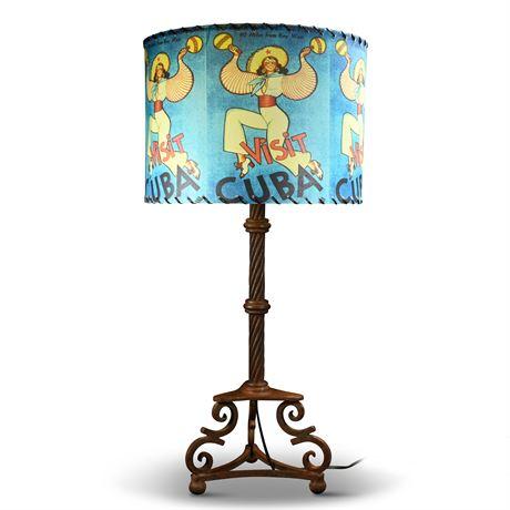 Whimsical Iron Lamp