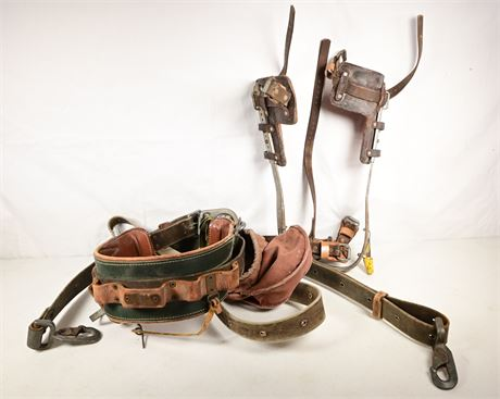 Bell System Buckingham Tool Belt, Spikes and Strap