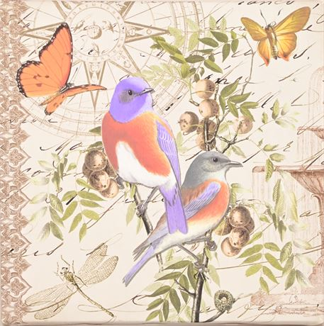Aviary Print on Canvas