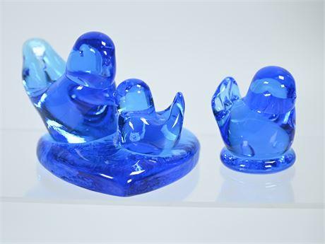 Leo Ward Blown Glass Birds of Happiness