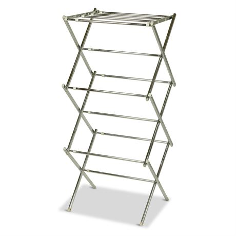 Vintage Chrome Clothes Drying Rack