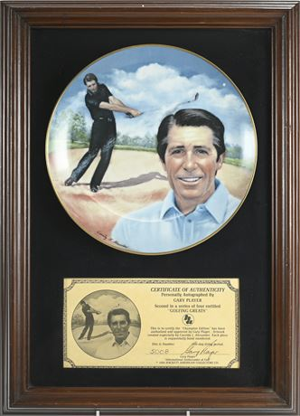 """""""Golfing Greats"""" Gary Player Framed Collectible Plate"""