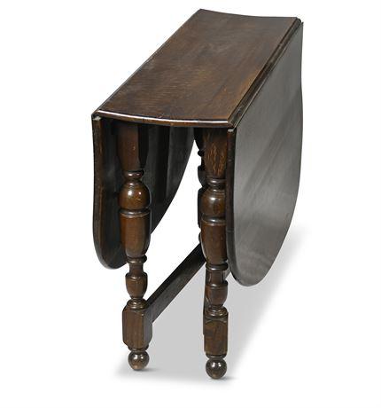Vintage Tiger Oak Gate Leg Table