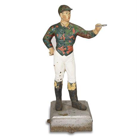 Antique Cast Iron Lawn Jockey Hitching Post