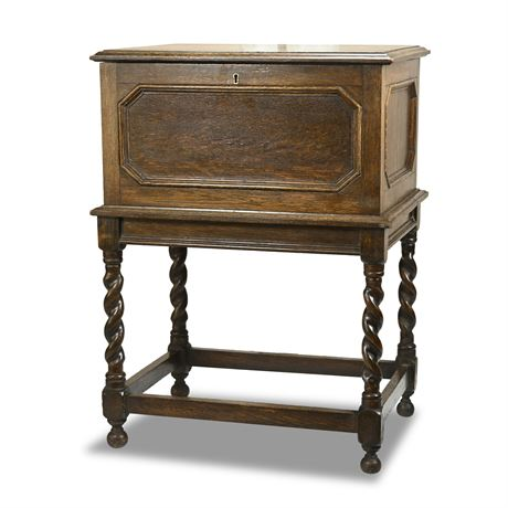 Barley Twist Silver Chest On Stand