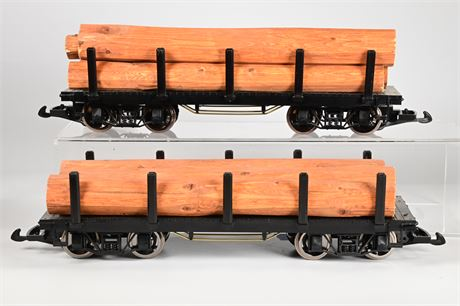 G-Scale Logging Flat Cars