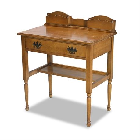 Vintage Fruit Wood Ladies Writing Desk