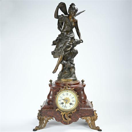 19th Century French Art Nouveau Mantel Clock