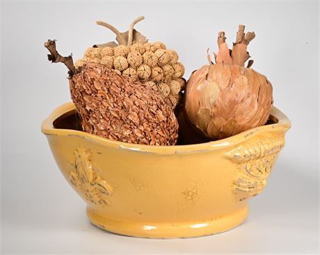 Ceramic Bowl with Handcrafted Fruit
