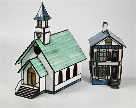 Stained Glass Church and House