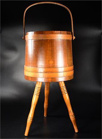 Vintage Firkin Slat Bucket