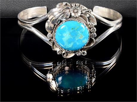 Navajo Turquoise & Sterling Bracelet