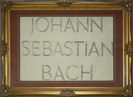 Johann Sebastian Bach Rubbing