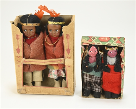 Pair Skookum Dolls