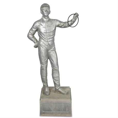 Vintage Cast Aluminum Lawn Jockey