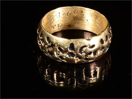 14k Gents Brutalist Ring