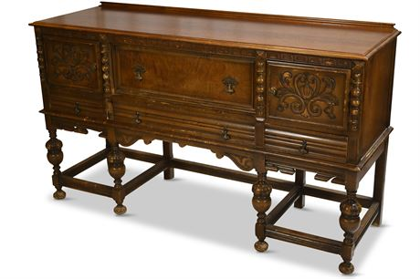 Antique Jacobean Sideboard, As Is