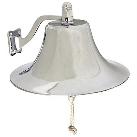 "West Marine 6"" Cast Brass Bell and Bracket"
