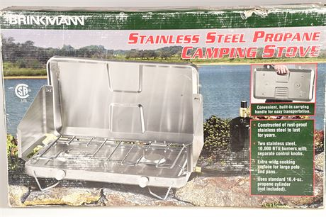 Brinkmann Stainless Steel Propane Camping Stove