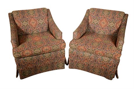 Pair of Custom Upholstered Arm Chairs