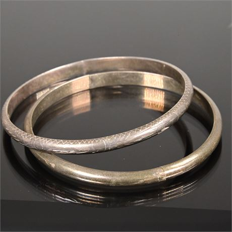 Vintage Sterling Silver Bangles