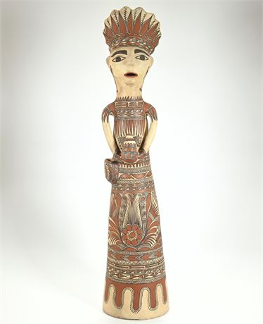 Vintage Female Figure From Guerrero Mexico by Ayalas