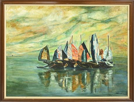 Mid-Century Oil on Canvas