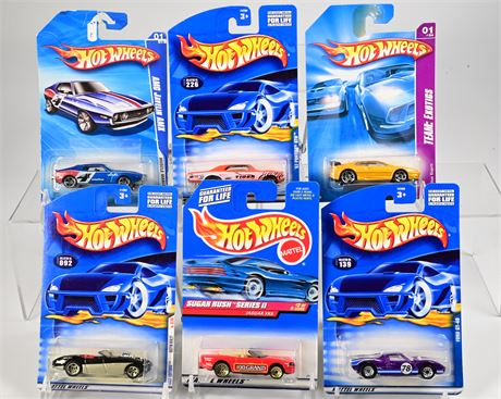 (6) Hot Wheels Muscle Cars